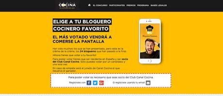 ¡SOMOS FINALISTAS en Blogueros Cocineros de Canal Cocina!