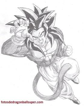 Dibujos Para Colorear Goku Super Saiyan 4 De Dragon Ball Gt Paperblog