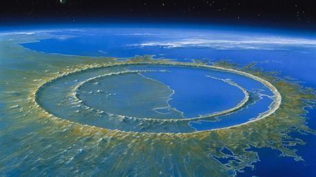 El lugar del cráter era rico en hidrocarburos