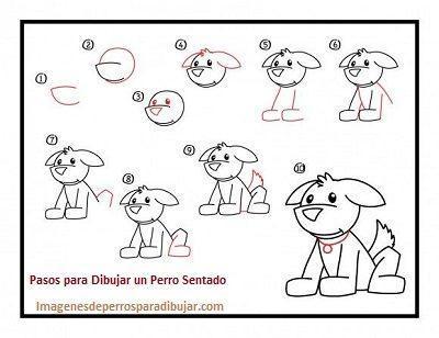 Figuras De Como Dibujar Un Perro Sentado Facil Paso A Paso Paperblog