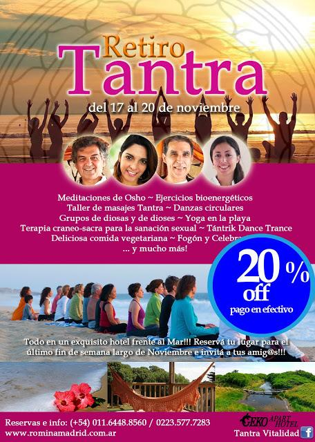 Este Fin de Semana! Retiro Tantra frente al mar!!!