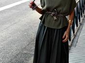 falda tablas larga