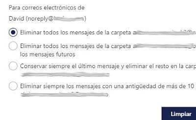 Como eliminar mensajes automaticamente de una direccion de correo en tu bandeja de entrada