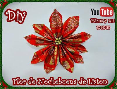 Diy. Flor de Nochebuena de Liston