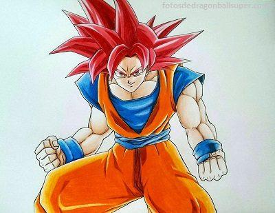 Dibujos De Dragon Ball Z A Color De Goku Dios Para Dibujar Paperblog