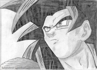 dibujos a lapiz de goku fase 4 ssj4