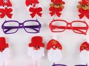 Gafas para muñecos navideños decoracion niños gratis