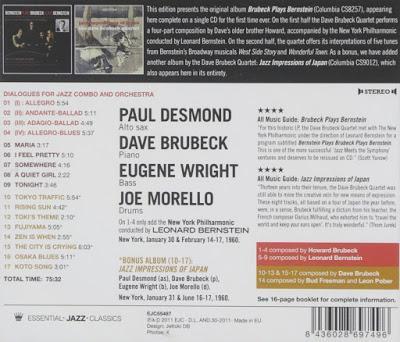 DAVE BRUBECK: Bernstein Plays Brubeck Plays Bernestein