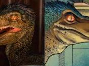 Primer vistazo cerca Compasión, dinosaurio Runaways