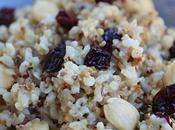 Arroz integral quinoas, arandanos almendras