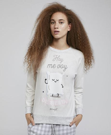 Camiseta pijama Oysho Mr Wonderful