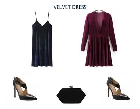 Get the look: Velvet dress