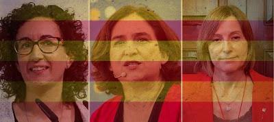 Mujeres clave al frente de la nueva Generalitat soberanista: Rovira, Colau y Forcadell.