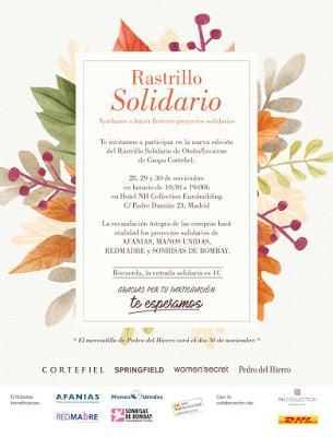 Rastrillo solidario Grupo Cortefiel, 28 a 30 de noviembre en el Hotel NH Eurobuilding