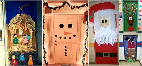 18 ideas espectaculares para decorar puertas en navidad for Ideas para decorar marcos de puertas