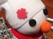 Navidad: Muñeco nieve calcetín