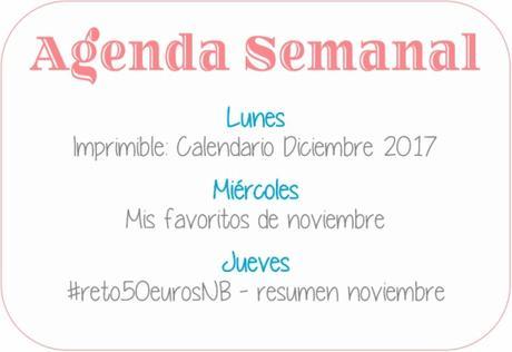 Agenda Semanal 27/11 - 3/12