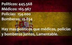 Los políticos invaden y arruinan España