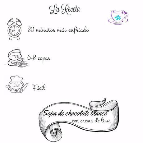 SOPA DE CHOCOLATE BLANCO CON CREMA DE LIMA