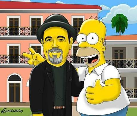 Histórica visita de la familia Simpson a Panamá.  @simpsonized