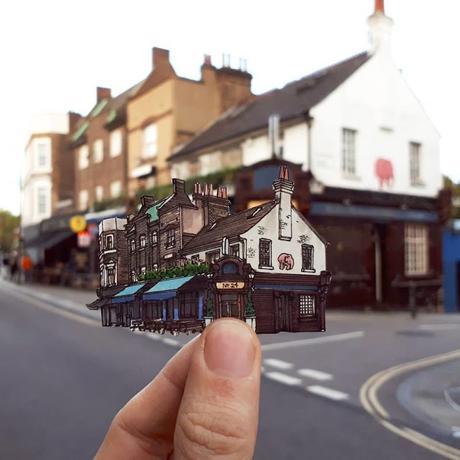 Maxwell Tilse se lleva un recuerdo de cada ciudad Dibujando sus lugares favoritos