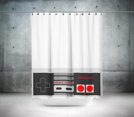 Cortina de baño de Nintendo solo para fanáticos