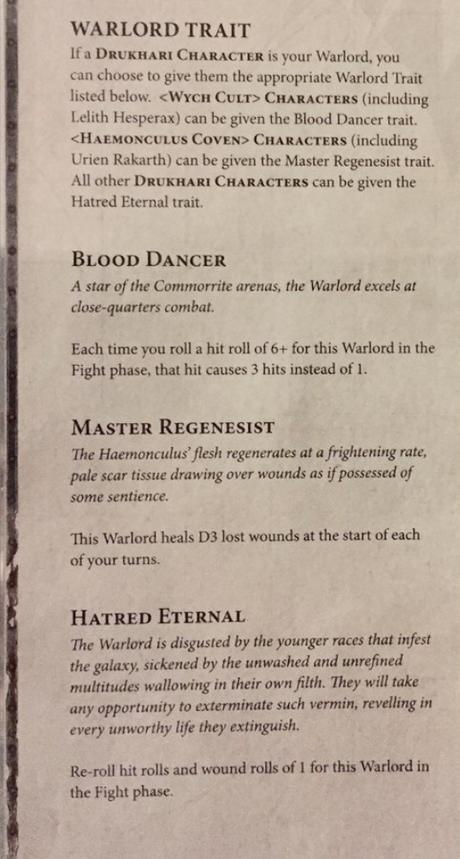 Adelanto de reglas de los Eldar Oscuros/Drukhari en el Chapter Approved
