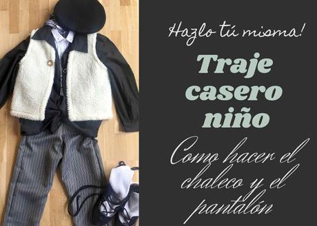 TRAJE DE CASERO PARA NIÑO