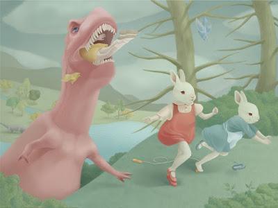 El dulce y cruel surrealismo dinosauriano de Hsiao-Ron Cheng