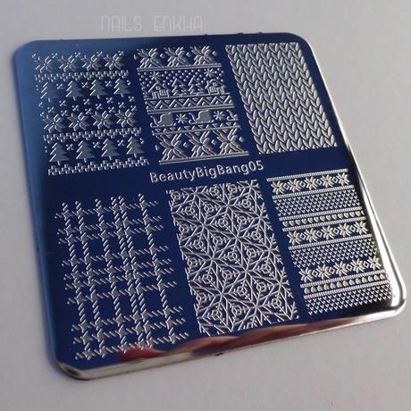 Xmas Winter Nail Stamping Plate  SKU:J3141TM-5A