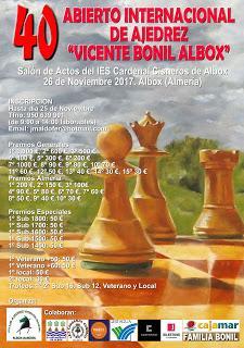 GM José Carlos Ibarra Campeón 40º Abierto Internacional Vicente Bonil 2017