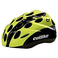 Catlike Kitten SV Casco de Ciclismo, Negro (Black / Yellow Fluor), XS