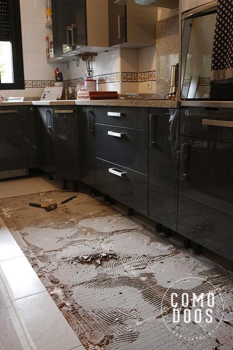 Quitar suelo de cocina
