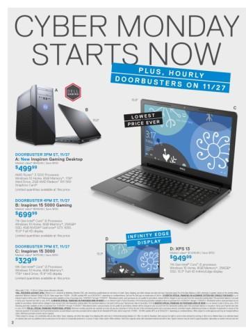 Ofertas de  Dell de Cyber Monday 2017