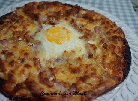 Pizza con tortitas