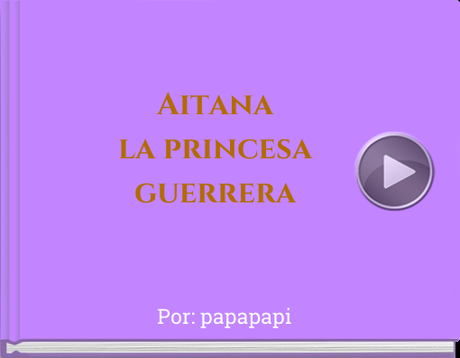Book titled 'Aitana la princesaguerrera'