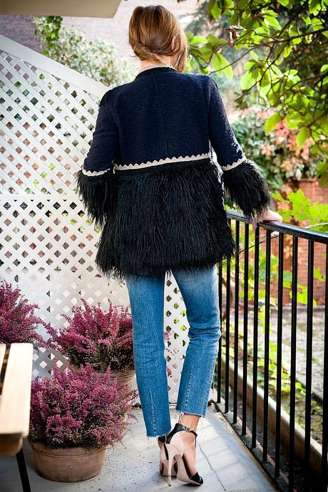 chaqueta para fiestas, chaqueta con jeans.