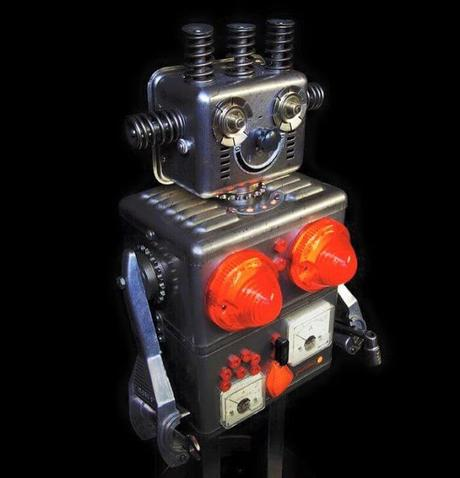 15 Robots Increíbles e iluminados esculpidos con piezas recicladas por Brauer