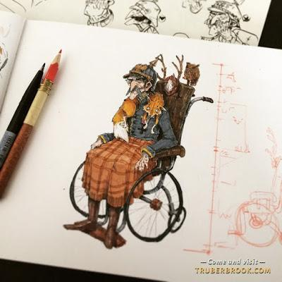 Participa en el Kickstarter de 'Trüberbrook', una aventura gráfica hecha a mano. Literalmente