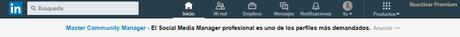 Imagen de ejemplo de un anuncio de texto en LinkedIn Ads
