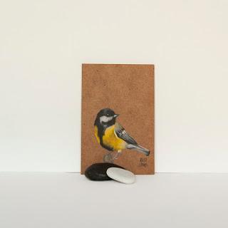 Il·lustració Ocell Groc / Ilustración Pájaro Amarillo