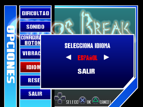 Chaos Break de PlayStation traducido al español
