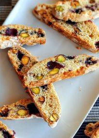 Receta de biscotes de pistacho y arándanos