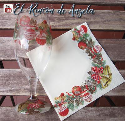 Como decorar tus copas con decoupage para personalizar tu mesa de navidad