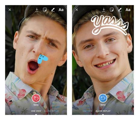 Instagram permite personalizar fotos de amigos para enviar por mensaje directo