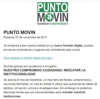 PUNTO MOVIN  Panamá, 27 de noviembre de 2017