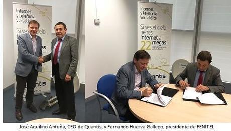 Quantis y FENITEL aceleran el servicio de banda ancha por satélite en zonas rurales