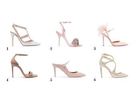 zapatos de novia rosas www.bodasdecuento.com