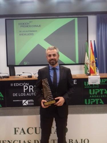 Marcelo Vázquez recoge el Premio Coraje de los Autónomos
