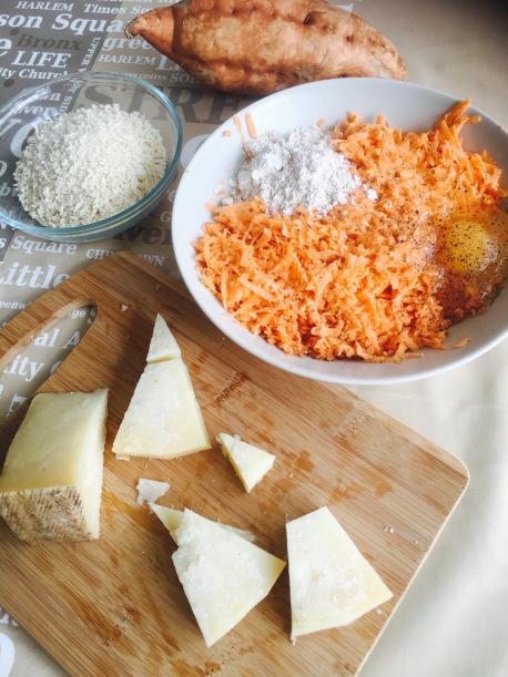 Juego blogueros 2.0: Croquetas de boniato y queso